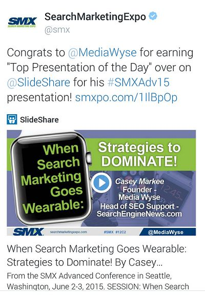 SMX Advanced 2015 Slideshare of the Day Casey Markee