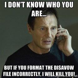 Disavow Link File Taken Meme