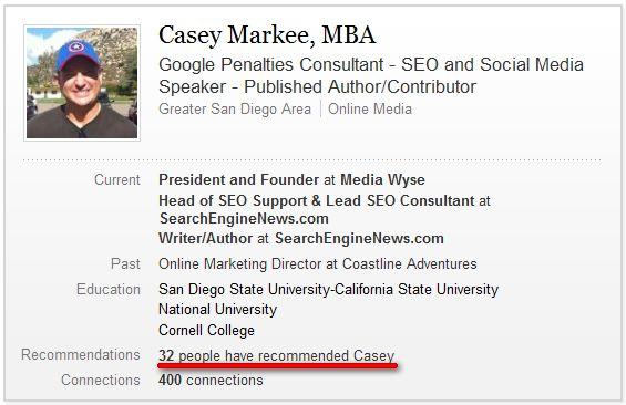 Casey Markee Linkedin Expert Profile